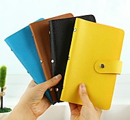 Simple Stylish Pinky Color Leather Card Holder (Random Delivery)