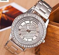 Men's Quartz Alloy, Switzerland Watch Fashion Monocular Double-Color Steel Band Watch Cool Watch Unique Watch