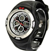 Men's Fashion Plastic Band Black Digital Watch