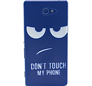 Disdain Don't Touch My Phone Pattern PC Hard Material Phone Case for Sony Xperia M2 S50h D2303 D2305