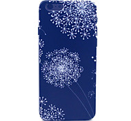 Black Dandelion Pattern Plastic Hard Cover for iPhone 6