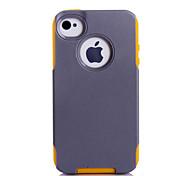 super protection TPU + pc 2in1 combo shell étui protecteur pour iPhone 4 / 4S (couleurs assorties)