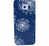 Black Dandelion Pattern PC Hard Case for Samsung Galaxy S6