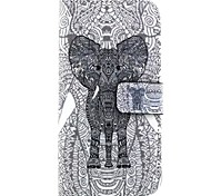 3D Pattern High-Grade PU Leather Mobile Phone Holster Full Body Case Shatter-Resistant Case for Samsung Galaxy E5