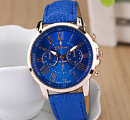 Ladies' Round Dial Case Leather Watch Brand Fashion Quartz Watch Sport Watch Cool Watches Unique Watches