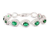 Women's Fashion  Crystal Rhinestone Hand Chain Ring Bracelet