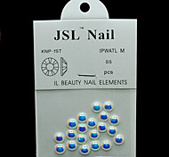 Pearl6mm 20pcs/lot Nail Beads AB Color Half Round Pearls 6mm Imported Pearls Nails Rhinestones 3d Jewelry Supplies