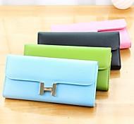 Fashionable Letter H Stylish Multi Color PU Purse (Random Delivery)