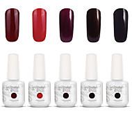 nail art gelpolish impregna fuori uv gel del chiodo del gel di colore smalto kit manicure 5 colori set S105