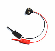 9V Battery Snap Connector w/ Test Cable Clip for Arduino - Black + Red