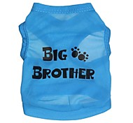 Cat / Dog Shirt / T-Shirt Blue Dog Clothes Summer Letter & Number Cosplay