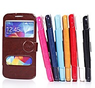 High-Grade Genuine PU Leather Mobile Phone Holster Full Body Case Shatter-Resistant Case for Samsung S5  I9600