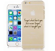 English Font Pattern Transparent Phone Case Back Cover Case for iPhone6 Case