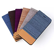 For iPhone 6 Case with Stand Case Full Body Case Solid Color Soft Textile iPhone 6s/6