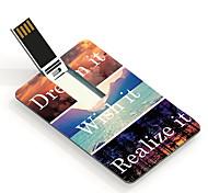 64GB soñar y desear que, darse cuenta de que el diseño de la tarjeta USB Flash Drive