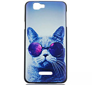 Glasses Cat  Pattern PC Phone Case For Wiko RAINBOW