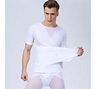 hombres sexy corsé hombres talladora del cuerpo de la cintura que adelgaza la ropa interior del abdomen tanque de la camisa gimnasio