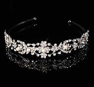 Bridal Crown Silver Tiara Queen Crystal/Diamond Hairclips Headpiece For Wedding/Party