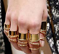 European Style Fashion Glaze Twisted Loops  Alloy Ring(9 Pcs)