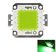 diy 20w verde cor de chips lâmpada de poupança de energia de alta potência levou módulo (dc30-36v)