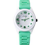 marca senhora cor doces coloridos simples silicone relógio xinzhe103