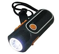 Braudel Waterproof Camping Flashlight LED Rechargeable Hand Crank, Mini Torch Lamp, Waterproof & Dustproof, Solar Panel