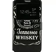 Anglais pattern cuir PU étui de téléphone portable pour Samsung Galaxy j7
