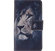 Lion  Pattern PU Leather Phone Case For  Sony Xperia E1
