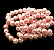 Beadia 2 Str(approx 180pcs) 10mm Round Glass Beads Pink Color Imitation Pearl Beads DIY Spacer Loose Beads