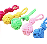 Pet Dog Solid Color Twisted Rope Ball Interactive Toys for Dogs and Cats  (Assorted Sizes)