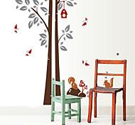 arbre amovible de l'environnement et l'écureuil balises pvc&autocollant