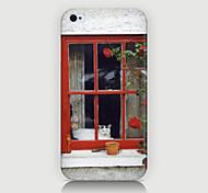 o caso janela padrão paisagem tampa traseira para phone4 / 4s