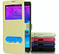cellulare fondina moda di alta qualità casi PU corpo pieno per Samsung Galaxy Note 4 (colori assortiti)