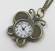 Exquisite Butterfly Shaped Pocket Watch Sweater Necklace