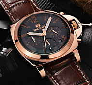 MEGIR®Men Casual Watch Genuine Leather Luxury Watches Quartz Wristwatch CHRONOGRAPH Sport Watch (Assorted Colors)