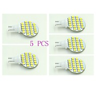 T10 Luces de Panel 24 SMD 3528 100-120 lm Blanco Natural DC 12 V 5 piezas