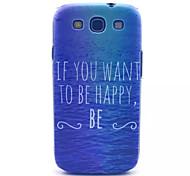 mar modelo feliz pc estuche rígido para Samsung s3 i9300
