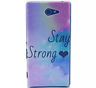 Glitter Star Pattern PC Hard Case for Sony Xperia M2