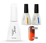 Azure 3 Pcs/Lot Soak Off UV Nail Gel Polish Color Changing  Gel Manicure Nail Art Gel(#41+BASE+TOP)