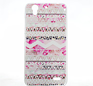 Pink Stripes Pattern of Transparent Frosted PC Material Phone Case for Huawei Ascend G630