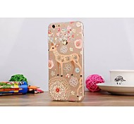 Painting Diamond Look/Graphic/Special Design TPU Back Cover for iPhone 6/6S