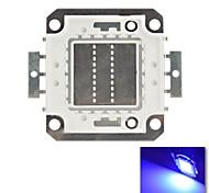 diy 20w azul cor de chips lâmpada de poupança de energia de alta potência levou módulo (dc30-36v)