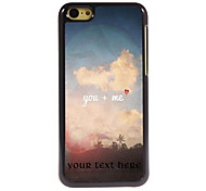 Personalized Gift You + ME Design Aluminum Hard Case for iPhone 5C