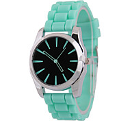Men's Women's Fashion Hollow Needle Six Shell Silicone China Watch Movement Angle(Assorted Colors)