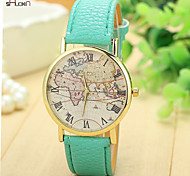 Women's Leather Band Quartz Anolog Wrist Watch(Assorted Colors)