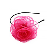 Pink Flower Organza Alloy Headband Hair Head Band Aliceband Girl Gift