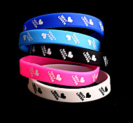 Silicone 3 Bracelet Chain & Link Bracelets Wedding/Party/Daily/Casual/Sports 1pc