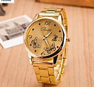 Lady'S Between Fashion Eye Gold Watch Steel Belt Quartz Watch