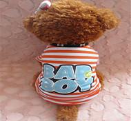 Hunde T-shirt Orange Sommer Streifen Zebra