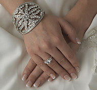 Luxurious Diamond Aolly Silver Bracelet For Women Lades Bridal Beach Wedding Dance